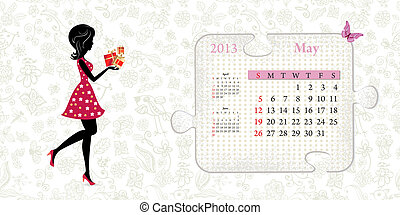 Calendar for 2013, may