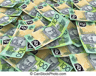 Australian Currency Close-up 100 AUD