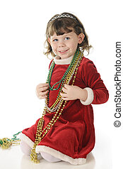 See My Pretty Beads - An adorable, dressed up preschooler...