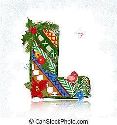 Art Christmas letter handmade