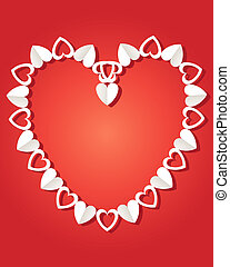 paper heart chain - an illustration of a decorative paper...
