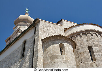 Krk Cathedral - Cathedral of Virgin Mary's Assumption. Town...
