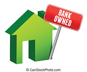 bank owned property illustration design over white