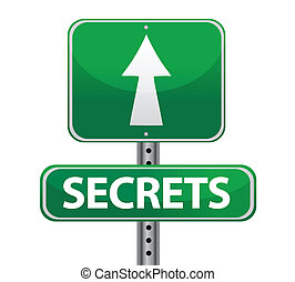 secrets street sign illustration design over white