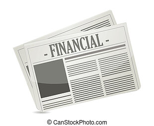 financial newspaper illustration design over a white...