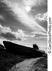 Alemán, mundo, guerra, 2, Submarino, tipo, VIIC/41