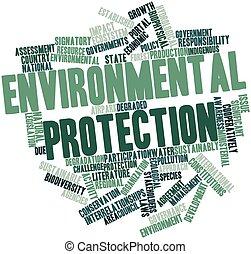 palabra, nube, ambiental, protección