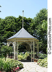 Summerhouse in Shakespeare Garden in Stratford Ontario Old...