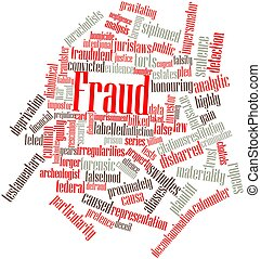 Fraud - Abstract word cloud for Fraud with related tags and...