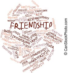 Friendship - Abstract word cloud for Friendship with related...