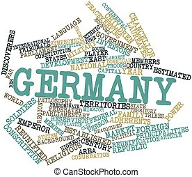 Word cloud for Germany - Abstract word cloud for Germany...