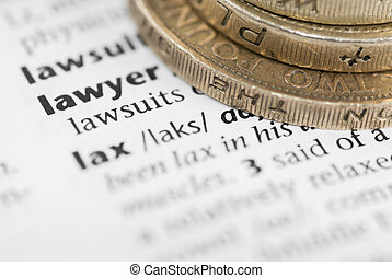 Definition of Lawyer and Pound Coins.