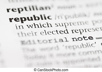 Macro Dictionary Word: Republic.