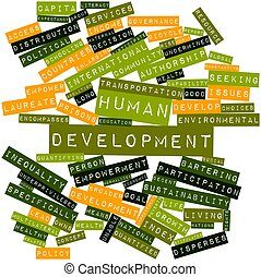 Word cloud for Human development - Abstract word cloud for...