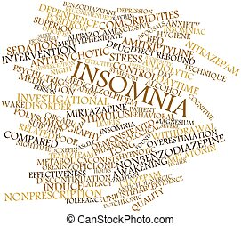 Word cloud for Insomnia - Abstract word cloud for Insomnia...