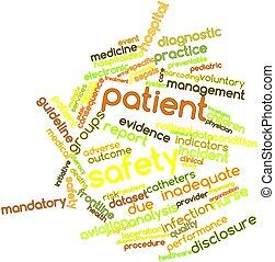 単語, 雲, 患者, 安全