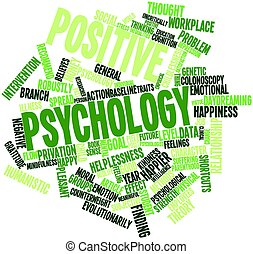 Positive psychology - Abstract word cloud for Positive...