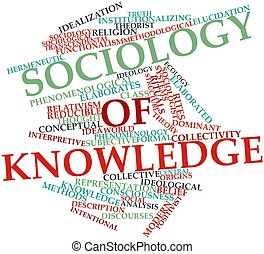 Sociology of knowledge - Abstract word cloud for Sociology...