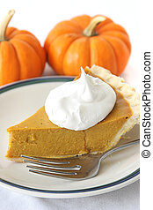 Pumpkin Pie Slice - Slice of delicious holiday pumpkin pie...