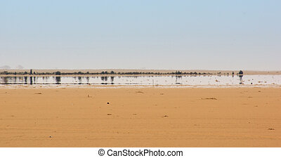 Fata Morgana - a mirage in the Libyan Desert