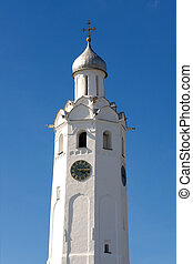 Clock tower 17 th c Novgorod Kremlin, Russia - Clock tower...