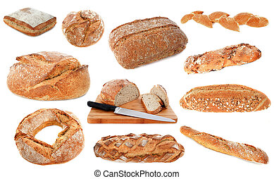 loafs of bread - loaf of breads in front of white background