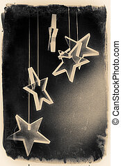 Falling Stars - An art abstract hanging, falling stars...