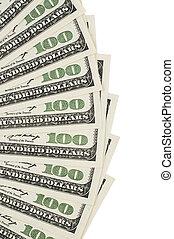 One hundred dollar background - One hundred dollar bill...