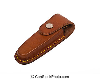 Leather case - leather case with pocket knife