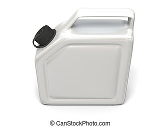 White jerry can - 3D illustration of white jerry can...