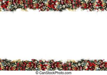 Christmas Background / Stationary - A border of pine cones,...