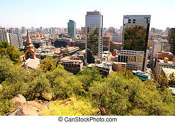 View over Santiago de Chile, South america