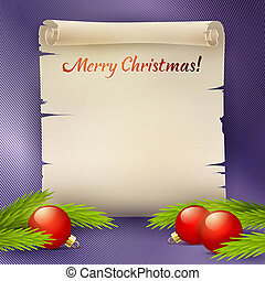 Background for the Christmas greetings