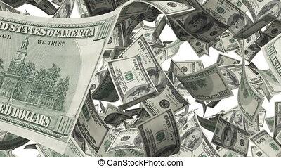 Hundred Bucks, Rotation on white background