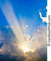 Light from heaven - Light shining through the clouds