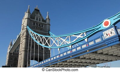 Tower Bridge. London, UK. - Tower Bridge on the river...