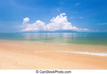 beach of koh Samui and tropical sea