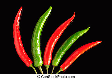Chili pepper pods