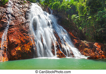 Na, Muang, 1, cascada, Koh, Samui, Tailandia