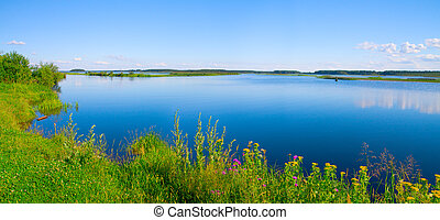 beautiful summer water landscape