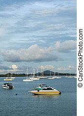 Ao Chalong marina - Many boat at Ao Chalong marina, Phuket...