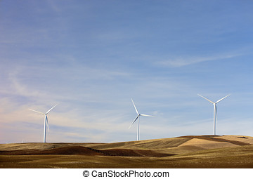 Wind turbines on the Palouse.