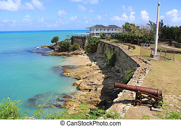 Fort James at St Johnu2019s Harbour An - British Fort James...