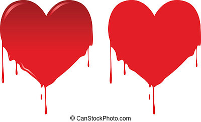 Bleeding Heart - Vector illustration of heart