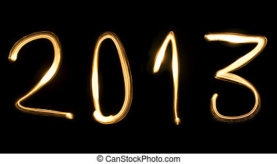 2013, the new year - number 2013, as the new year, written...