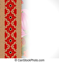 Floral background with the Ukrainian national ornament. eps10