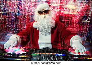 cool santa claus - DJ Santa Claus mixing up some Christmas...