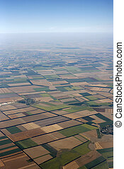 From an airplane - Kind from an airplane from the height of...