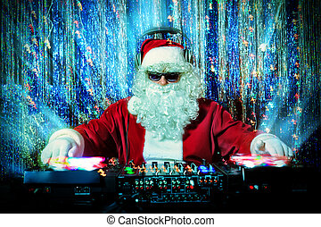 partyguy - DJ Santa Claus mixing up some Christmas cheer...
