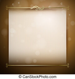 Vector background with classic deco - Vector background for...